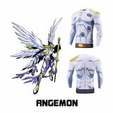 Angel Digimon Angemon Skin Long Sleeves Fitness Compression 3D Shirt - Konoha Stuff