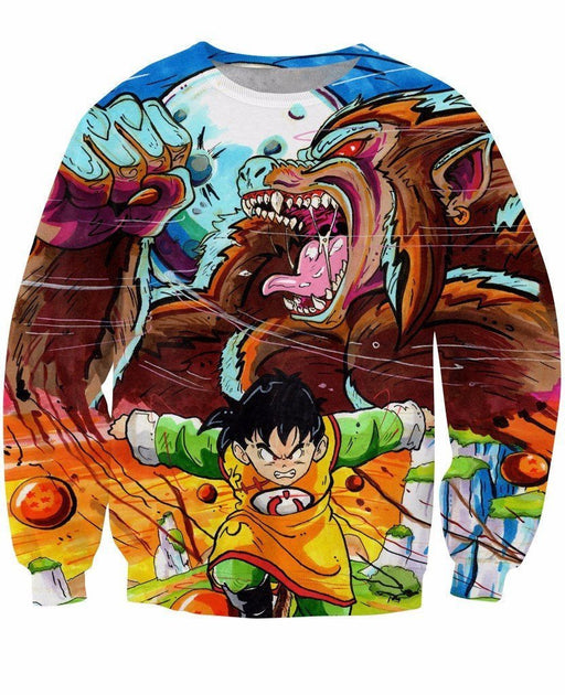 89807e809b5c Art Style Gohan Great Ape Colorful DBZ Graffiti Painting Sweatshirt - Saiyan  Stuff