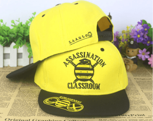 Assassination Classroom Koro Sensei Embroidery Hip Hop Hat Cap Snapback - Konoha Stuff