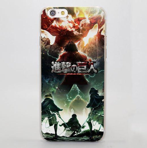 Attack On Titan Battle Against Impressive Color Cool iPhone 4 5 6 7 Plus Case - Konoha Stuff