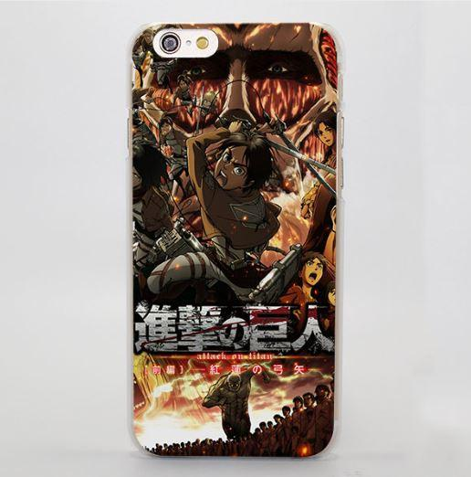 Attack On Titan Battle Chaotic Fire Power Kanji Cool iPhone 4 5 6 7 Plus Case