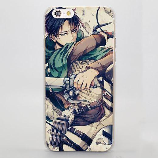 Attack On Titan Rivaille Cool Face Battle Defense Cool iPhone 4 5 6 7 Plus Case