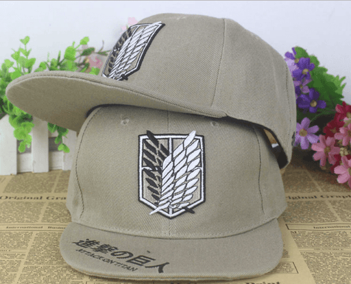 Attack On Titan Survey Corps Wings Of Freedom Hip Hop Hat Cap Snapback - Konoha Stuff