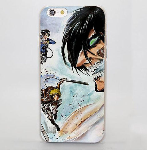 Attack On Titan The Battle Evil Face Flying Impressive iPhone 4 5 6 7 Plus Case