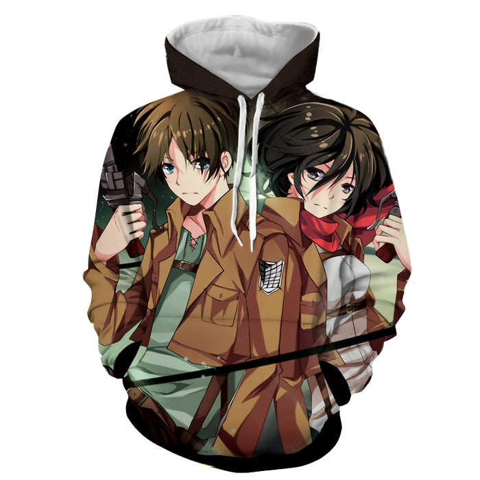Attack on Titan Anime Eren Mikasa Dope Survey Corps Hoodie