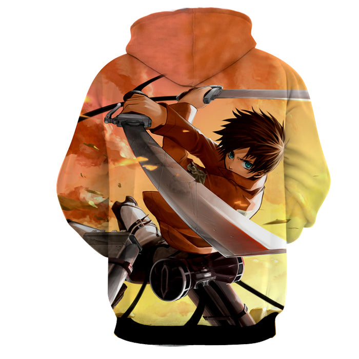 Attack on Titan Anime Eren Yeager Dope Swing Attack Hoodie
