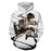 Attack on Titan Cool Eren Jaeger Fan Art Dope White Hoodie