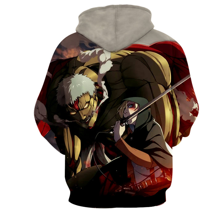Attack on Titan Dope Annie Leonhart Epic Armored Titan Hoodie