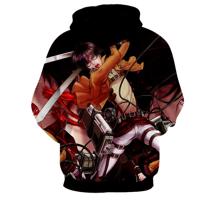 Attack on Titan Dope Eren Yeager Angry Titran Form Hoodie