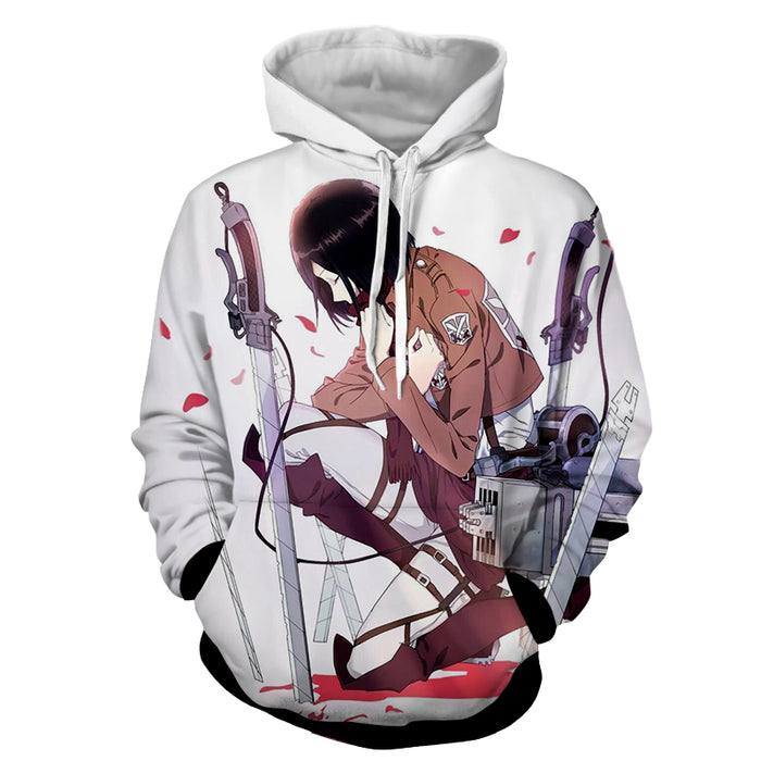 Attack on Titan Dope Mikasa Pledge Vow Oath Red Rose Hoodie