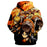 Attack on Titan Eren Mikasa Armin Dope Orange Flame Hoodie