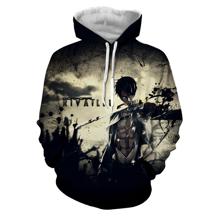 Attack on Titan Eren Yeager Epic Black Blood Stain Hoodie
