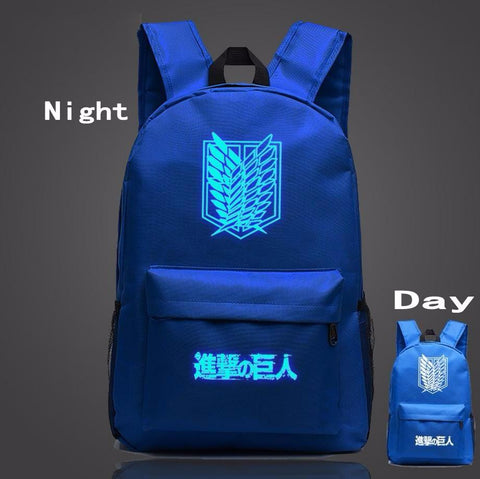 Attack on Titan Fantasy Anime Wings of Liberty Luminous Blue Backpack - Konoha Stuff
