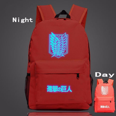 Attack on Titan Fantasy Anime Wings of Liberty Luminous Red Backpack - Konoha Stuff