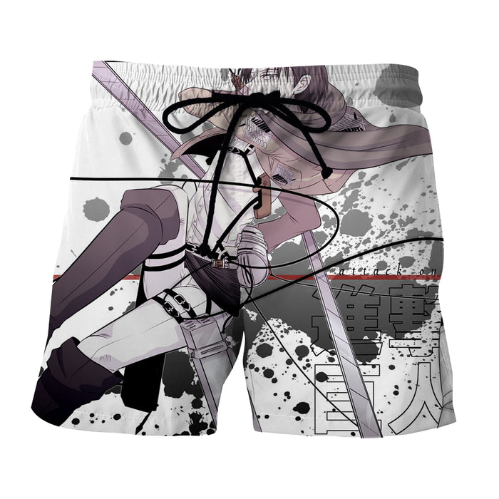 Attack on Titan Levi Ackerman Cool Black Stains Boardshort