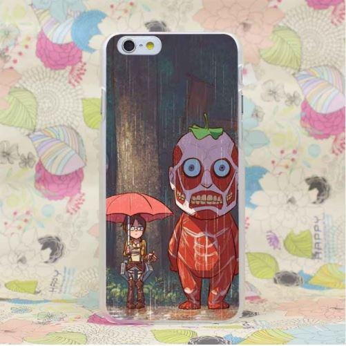 Attack on Titan Parody Totoro Funny Theme Concept iPhone 4 5 6 7 Plus Case - Konoha Stuff