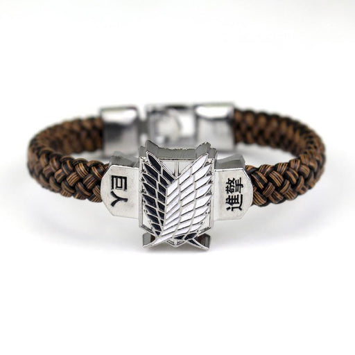 Attack on Titan Scout Wings Symbol Awesome Design Bracelet Wristband - Konoha Stuff