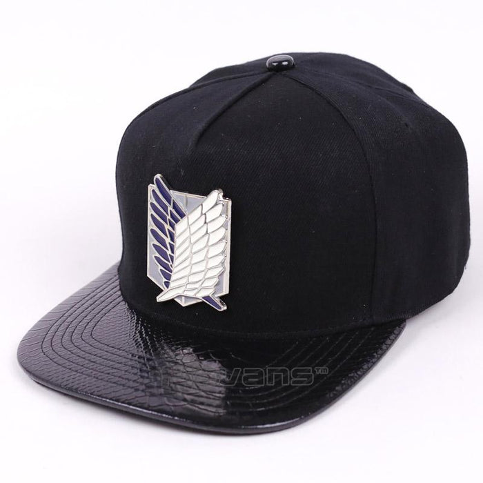 Attack on Titan Silver Logo Cool Snapback Baseball Hat Cap - Konoha Stuff