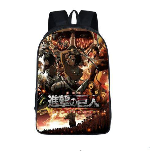 Attack on Titan War Awesome Poster Style School Bag Backpack - Konoha Stuff