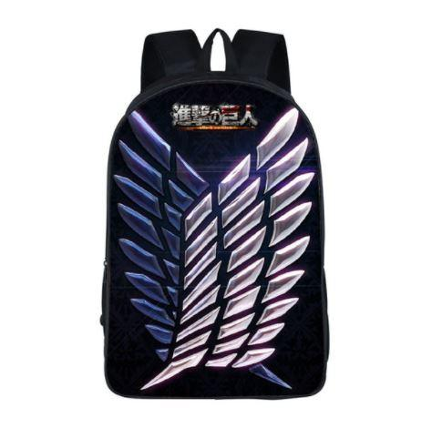 Attack on Titan Wing Liberty Scout Crest School Bag Backpack - Konoha Stuff
