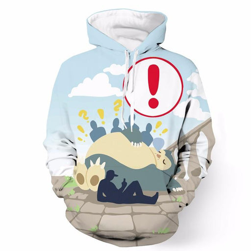 Big Fat Snorlax Pokemon Go Loading Screen Full Print 3D Hoodie - Konoha Stuff