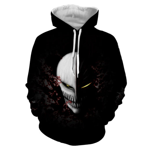 Bleach Scary Ichigo Kurosaki Full Face Hollow Mask Hoodie
