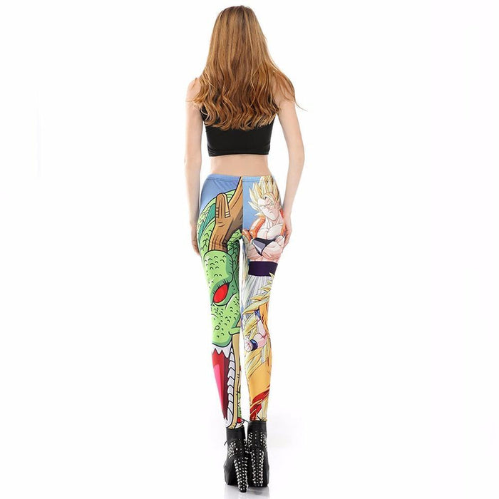 Blue Super Saiyan Goku Shenron Women Compression Fitness Leggings Tights - Saiyan Stuff - 4