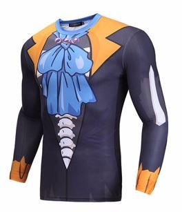 Brook Attire One Piece Gear Skin Gym Long Sleeves Compression 3D Shirt - Konoha Stuff