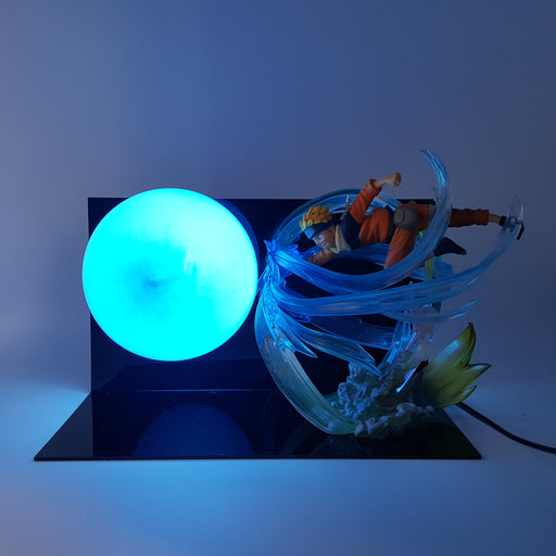 Naruto Uzumaki Giant Rasengan Blue Ball DIY 3D Light Lamp
