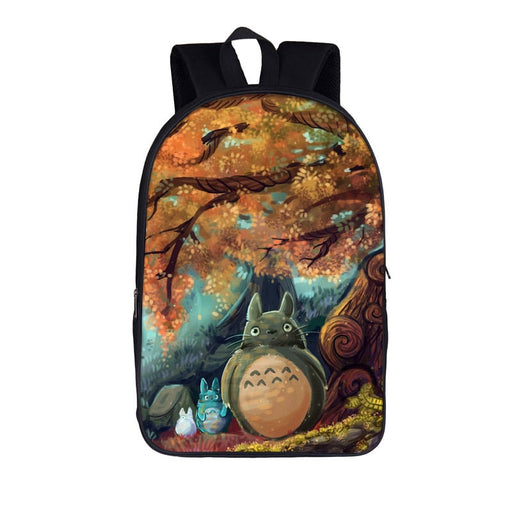 Curious Totoro Autumn Night Sky Cool Fan Art Backpack
