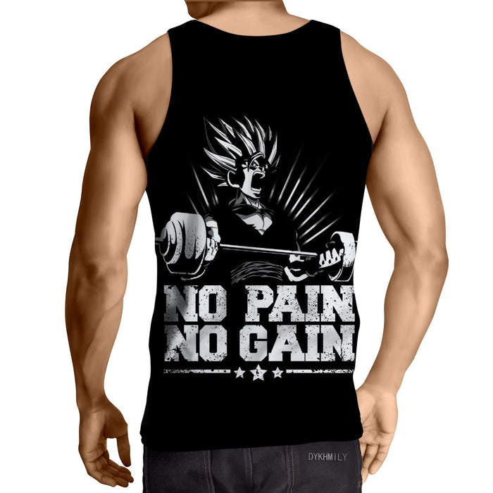 DBZ Gohan Kid Super Saiyan Pain Gain Quote Dope Tank Top
