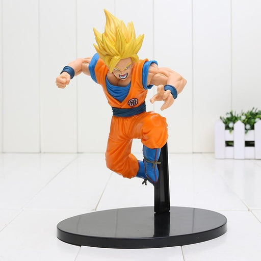 DBZ Son Goku Super Saiyan 2 Rigid Yellow Hair Transformation Action Figure - Saiyan Stuff - 1