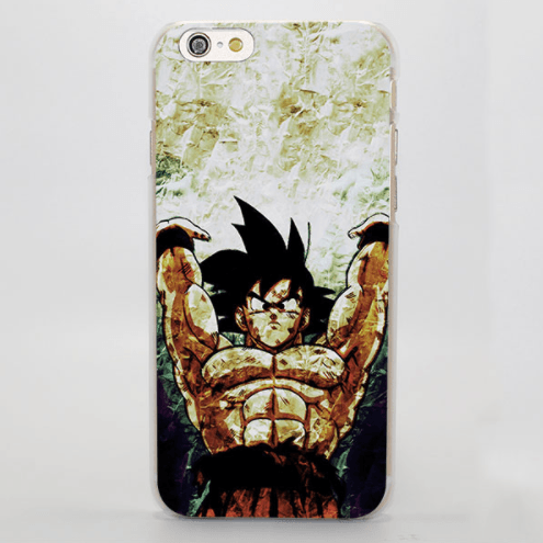 DBZ Strong Lifting Hand Goku Super Saiyan Drawing iPhone 4 5 6 7 8 Plus X Case