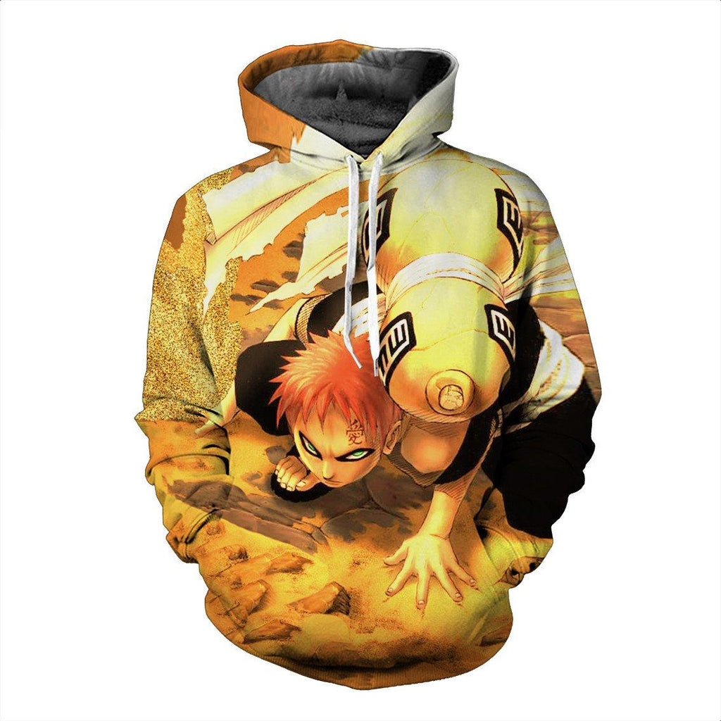 Dangerous Gaara Kazekage Powerful Weapon Fighter Sunagakure Hoodie - Konoha Stuff