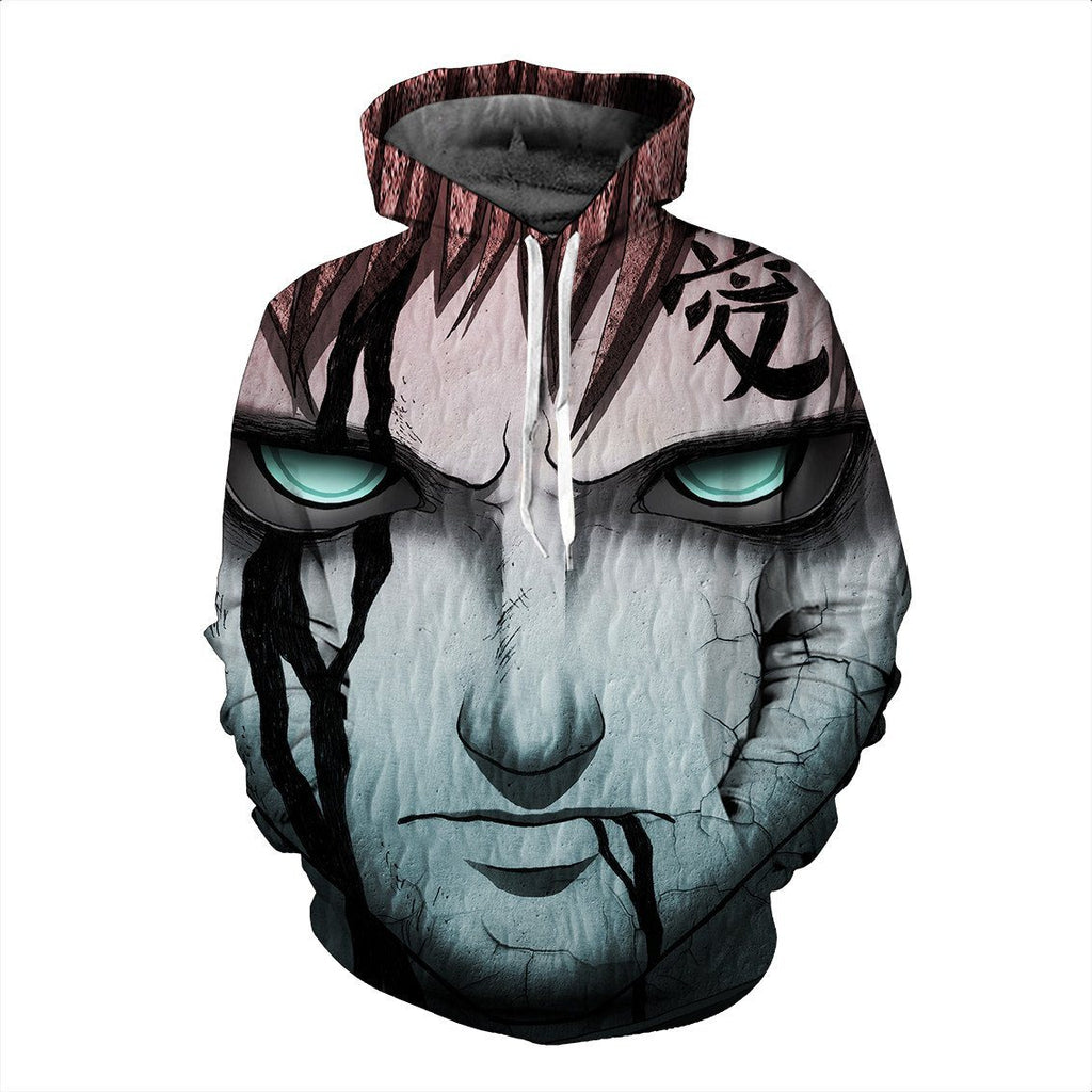 Deadly Look Gaara Kazekage Amazing Power Damage Cool Anime Hoodie - Konoha Stuff