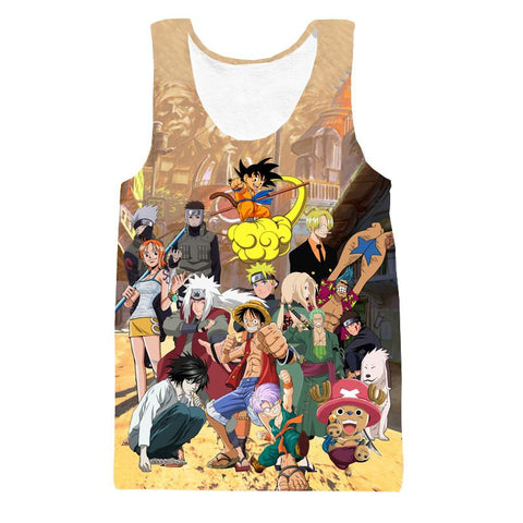 Death Note Naruto One Piece Dragonball Anime Characters  Cool Tank Top - Konoha Stuff