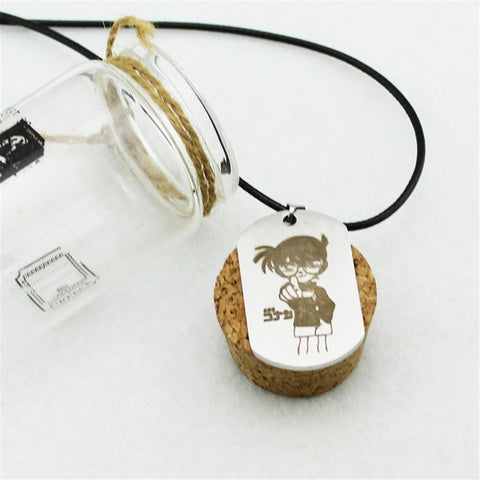 Detective Conan Case Closed Anime Titanium Steel Pendant Necklace - Konoha Stuff
