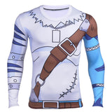 Digimon WereGarurumon Long Sleeves Workout Fitness Compression 3D Shirt