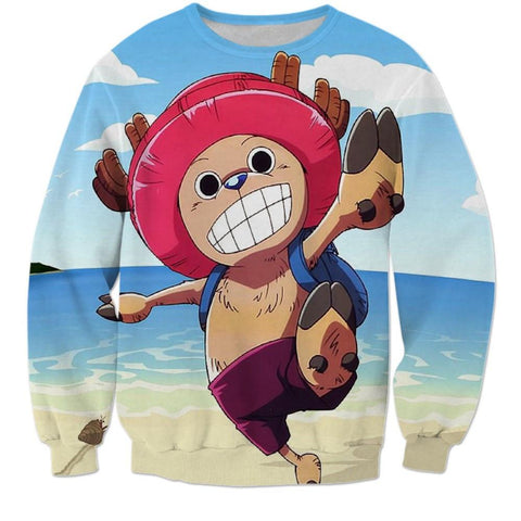 Doctor Tony Tony Chopper - One Piece Holidays Beach 3D Sweatshirt - Konoha Stuff