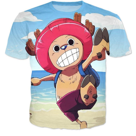 Doctor Tony Tony Chopper - One Piece Holidays Beach 3D T-shirt - Konoha Stuff
