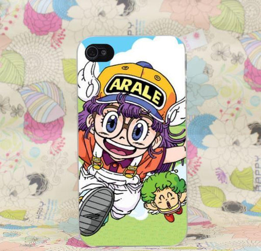 Dr. Slump Arale Gatchan Run Funny Cute Theme Anime iPhone 4 5 6 7 Plus Case