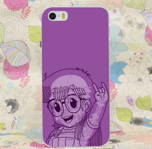 Dr. Slump Arale Rock On Hand Sign Anime Design iPhone 4 5 6 7 Plus Case