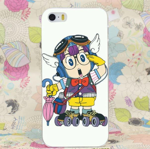 Dr. Slump Arale Wheel Skate Gears Cute Anime Theme iPhone 4 5 6 7 Plus Case