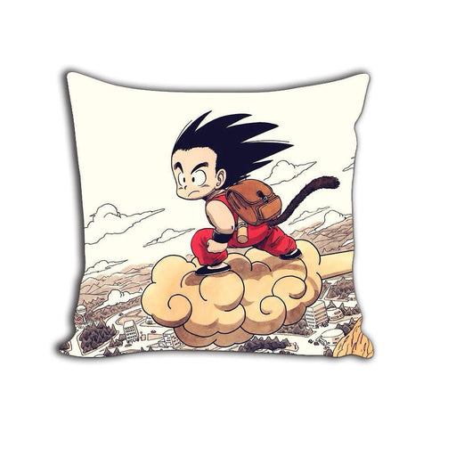 Dragon Ball Dope Kid Goku Flying Nimbus Cloud Decorative Throw Pillow