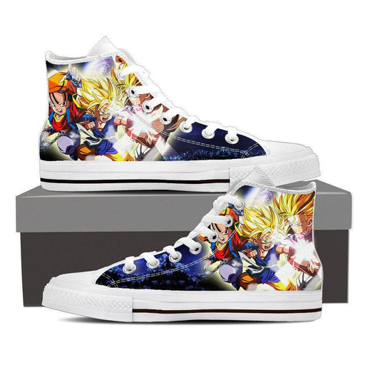 212f2fd52e03 Dragon Ball Goku Kid Super Saiyan Fan Art Theme Casual Wear Sneaker Shoes