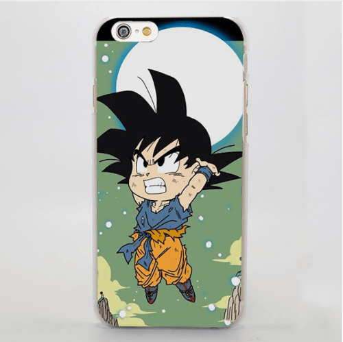 Dragon Ball Goku Spirit Bomb Chibi Fan Art Cute Design iPhone 4 5 6 7 8 Plus X Case