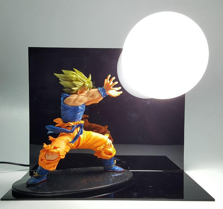 Dragon Ball Kamehameha Attack Super Saiyan Son Goku DIY Display Lamp - Saiyan Stuff - 1
