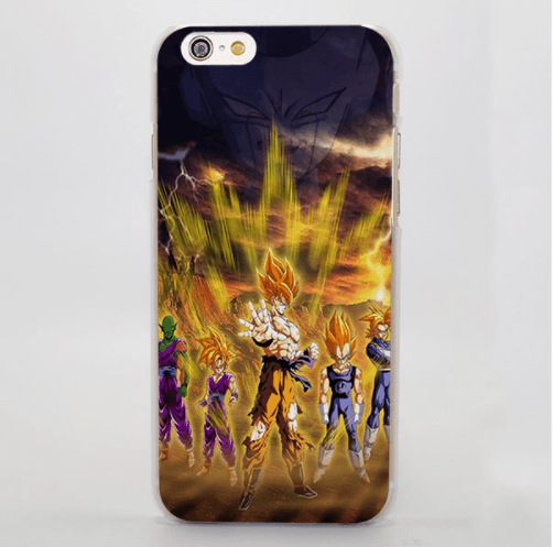 f86aba7570d4 Dragon Ball Super Saiyan Goku Vegeta Power Cool Art iPhone 4 5 6 7 8 Plus