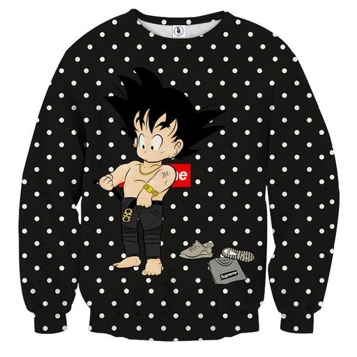 Dragon Ball Supreme Goku Kid Gangster Style Cool Sweatshirt