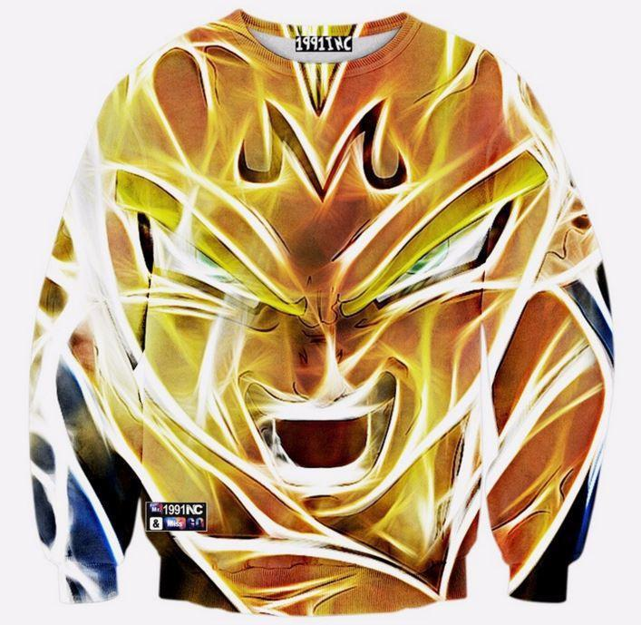 Dragon Ball Z Super Saiyan Majin Vegeta 3d Sweatshirt